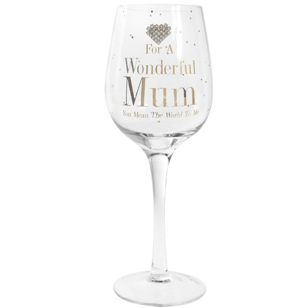 MAD DOTS MUM WINE GLASS