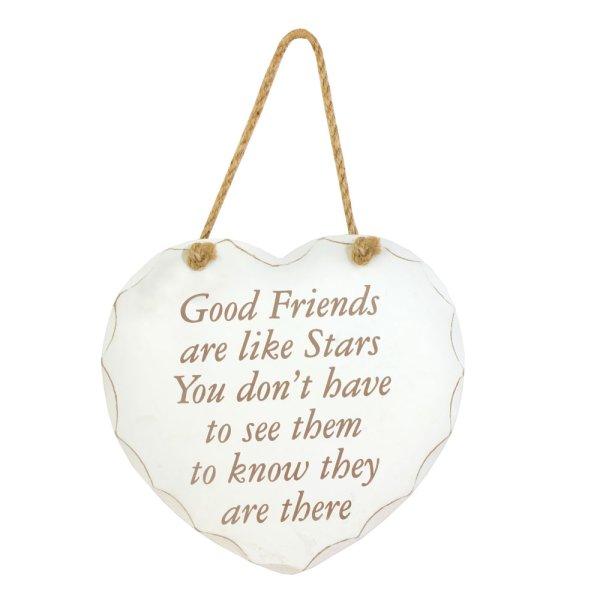 GOOD FRIENDS ARE LIKE STAR PLQ