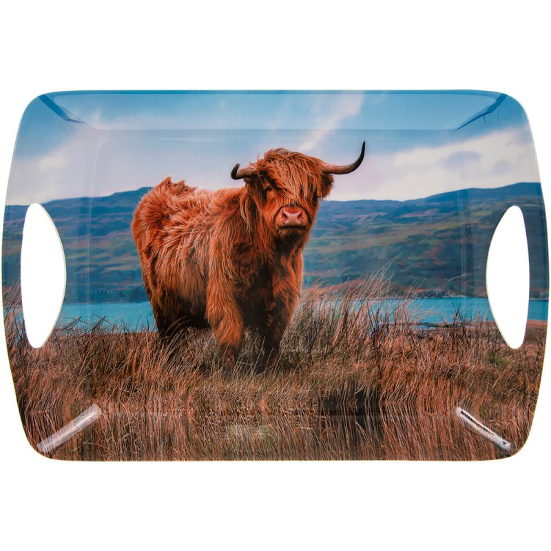 HIGHLAND COW TRAY LGE