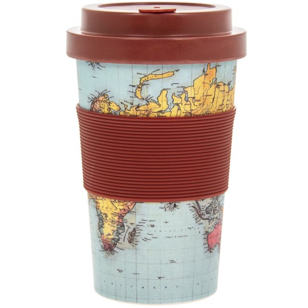 WORLD TRAVELLER BAMBOO TRAVMUG