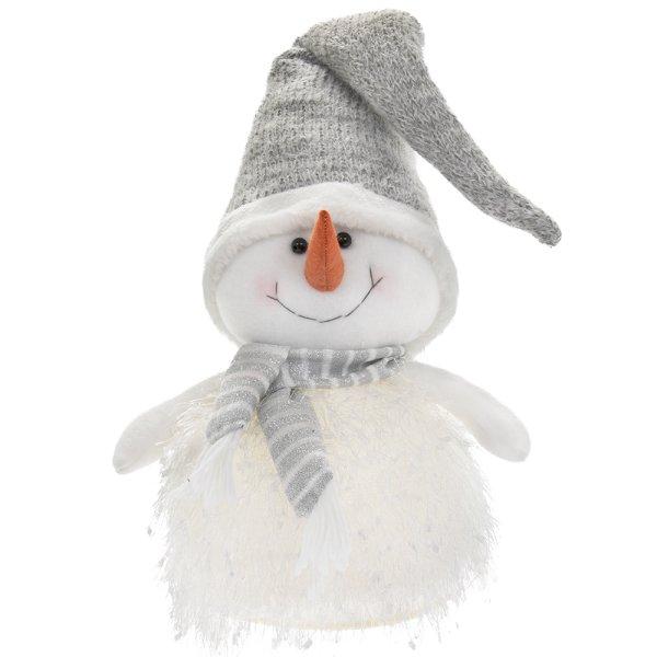 SNOWMAN LED GREY L
