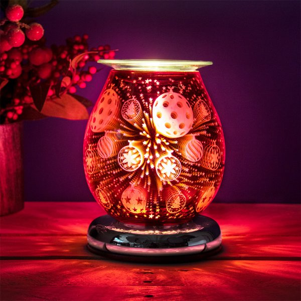 AROMA LAMP BAUBLE RED