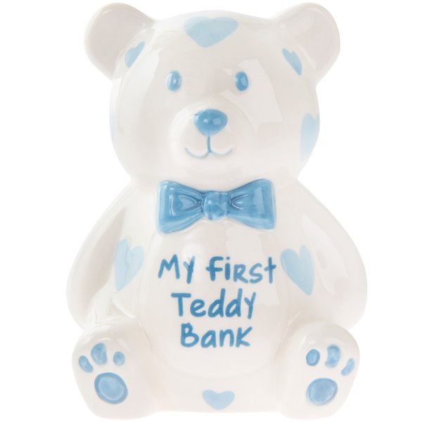 MY FIRST TEDDY BANK LARGE BLUE