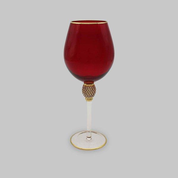 DIAMANTE RED WINE GLASS