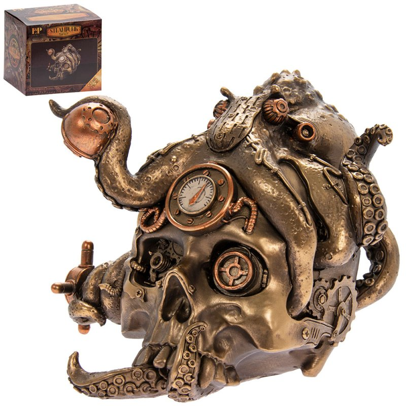 STEAM PUNK OCTOPUS SKULL