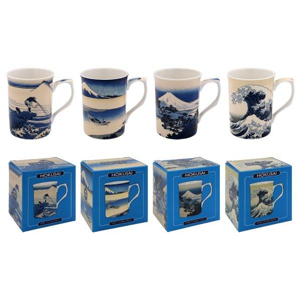 HOKUSAI WAVE MUGS 4 ASSTD