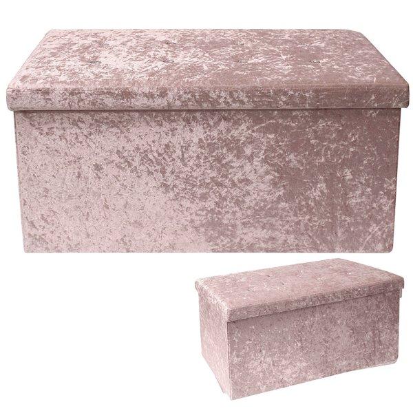 PINK VELVET FOLDING BOX