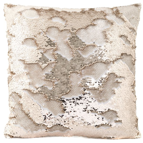 CHAMPAGNE&CRM SEQUIN CUSHION