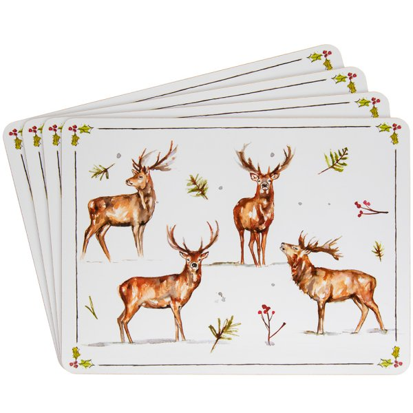 WINTER STAGS PLACEMATS SET OF4