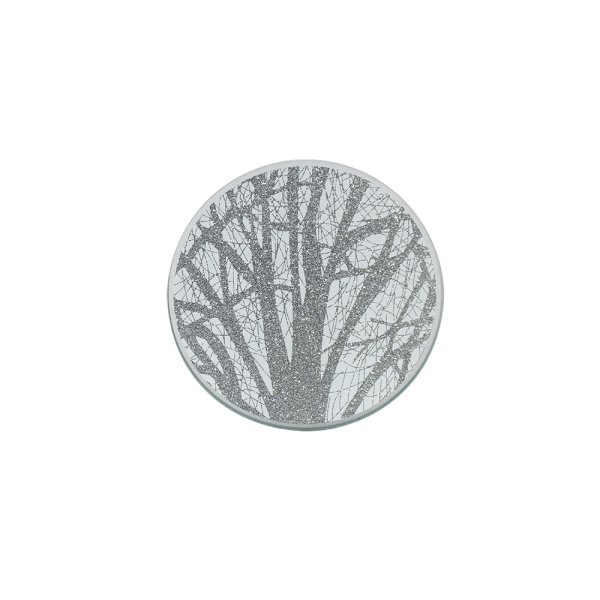 SILVER WOODLAND C/PLATE 10CM