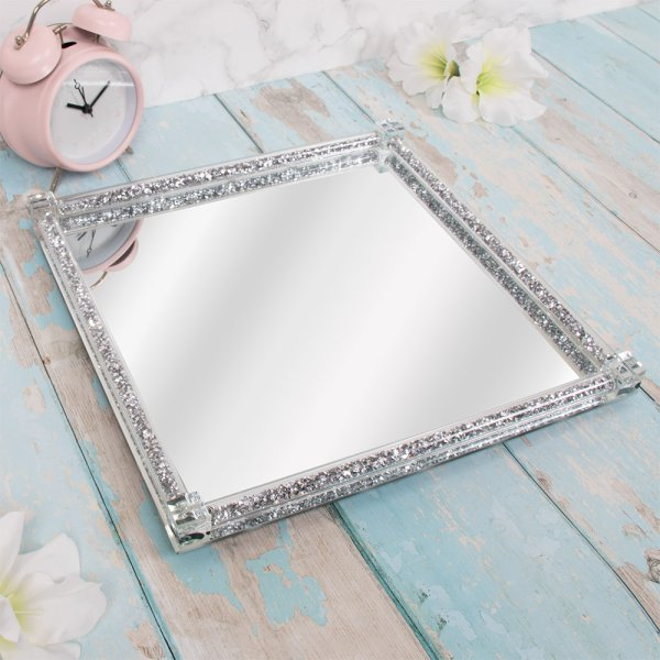 CRYSTAL SQUARE TRAY LGE