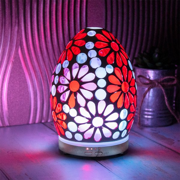 PINK FLOWER MOSAIC EGG HUMID