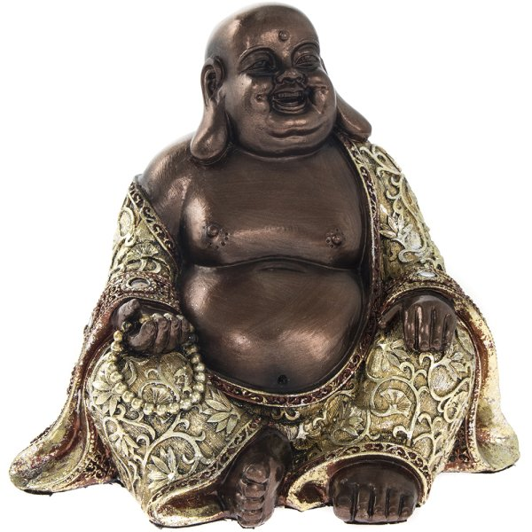 EXOTIC ART HAPPY BUDDHA 6""