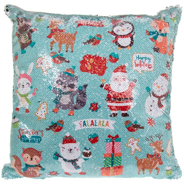 XMAS SEQUIN CUSHION