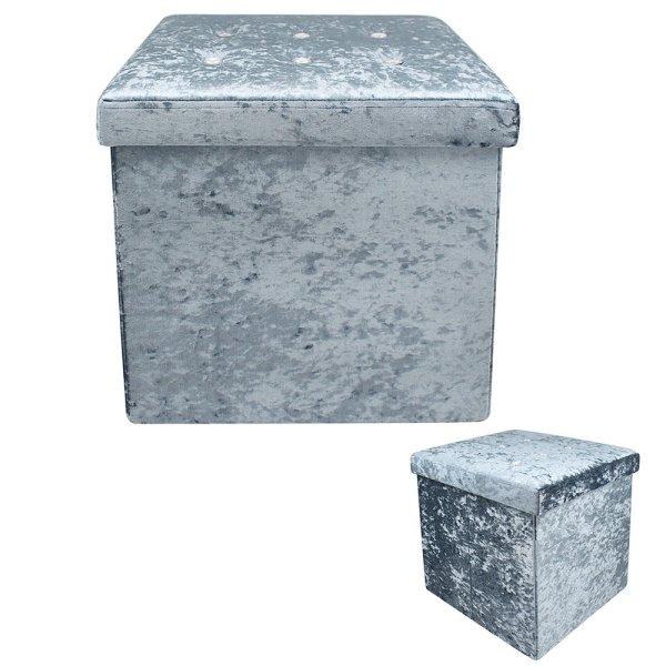 TEAL VELVET FOLDING BOX