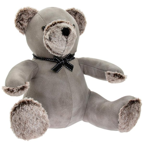 GREY TEDDY DOORSTOP