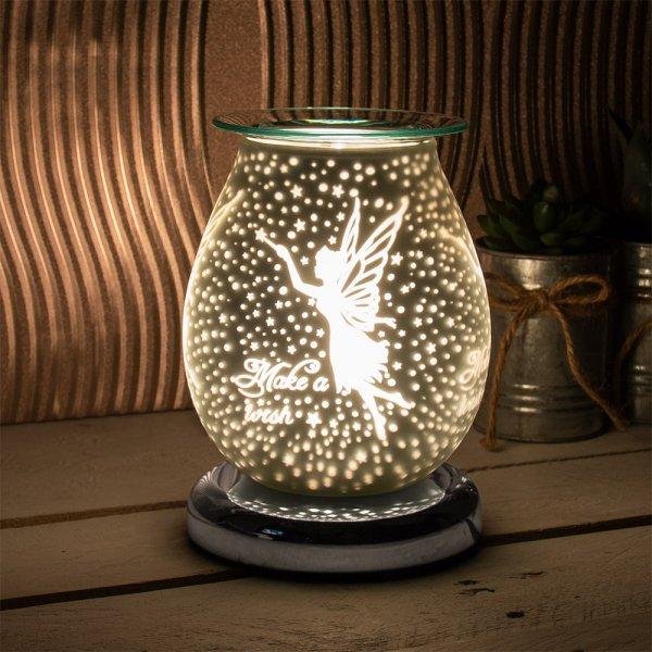 SATIN WHT FAIRY AROMA LAMP