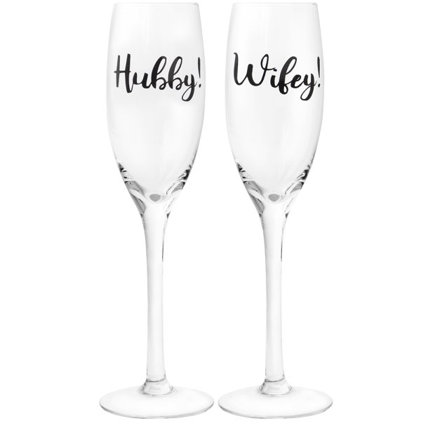 HUBBY & WIFE FLUTES 2 SET