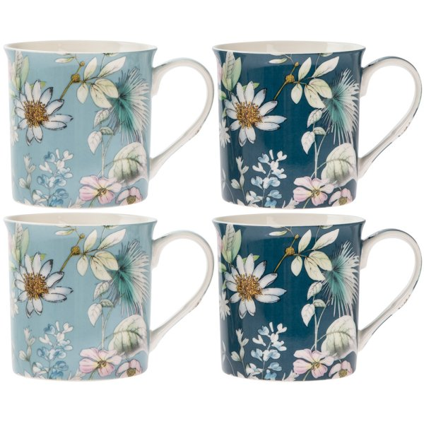 DAISY MEADOW MUGS SET 4