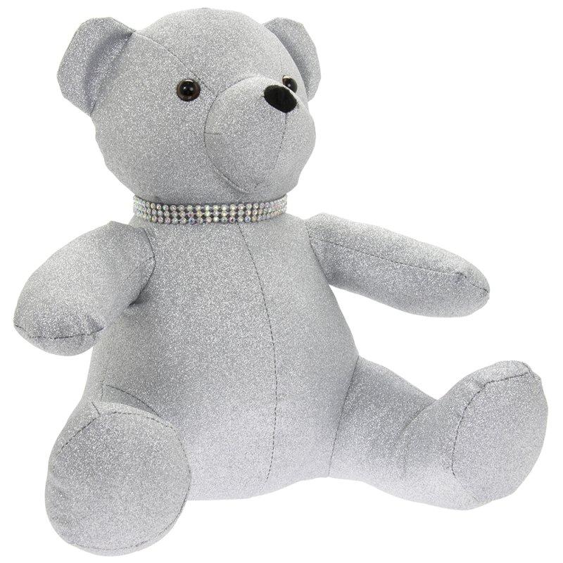 SILVER BLING TEDDY BEAR DOORST