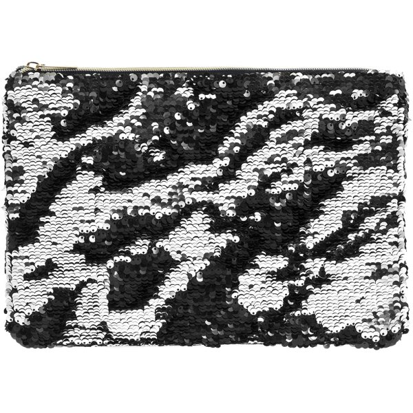 SEQUIN CLUTCH SILVER & BLACK