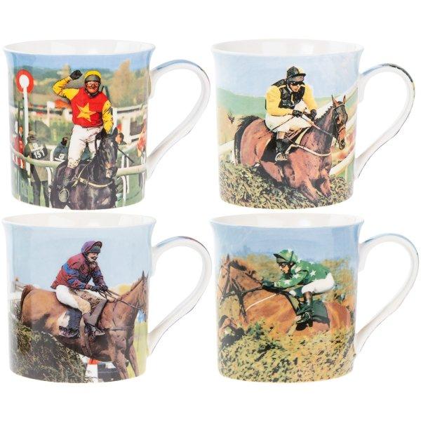 RACE HORSES MUGS 4 ASST
