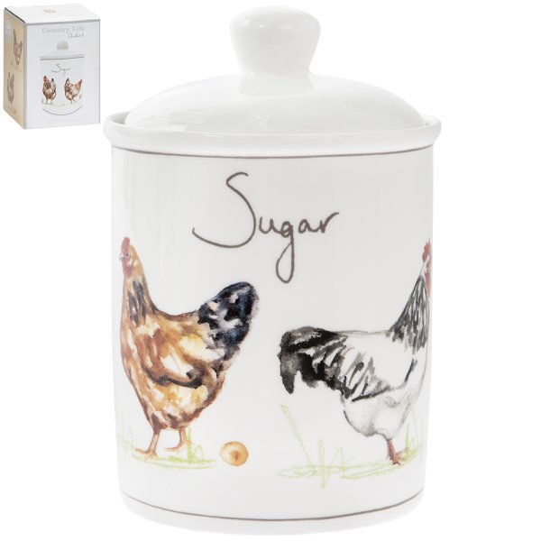 CHICKENS SUGAR CANISTER