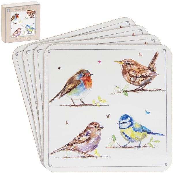 COUNTRY LIFE BIRDS COASTERS S4