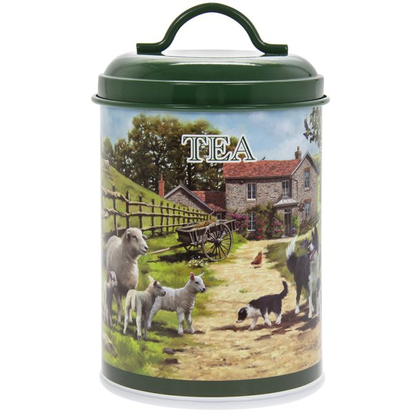 COLLIE & SHEEP TEA CANISTER