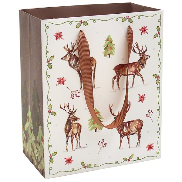 WINTER STAGS GIFT BAG LGE