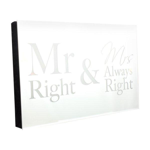 MR&MRS RGHT LED DISPLAY MIRROR