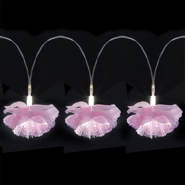 PINK LED FLOWER GARLAND