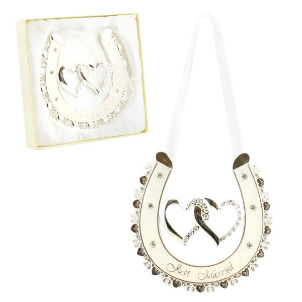 S/P HORSE SHOE JUST MARRIED