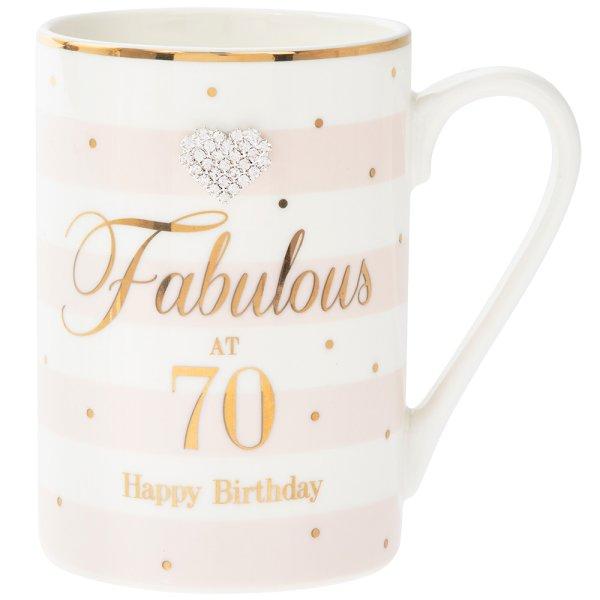 MAD DOTS 70TH BIRTHDAY MUG