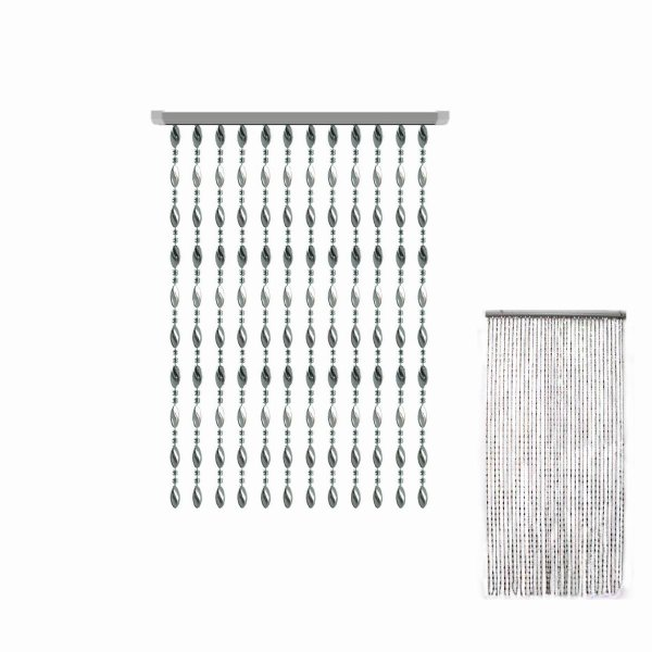 BEAD CURTAIN SILVER