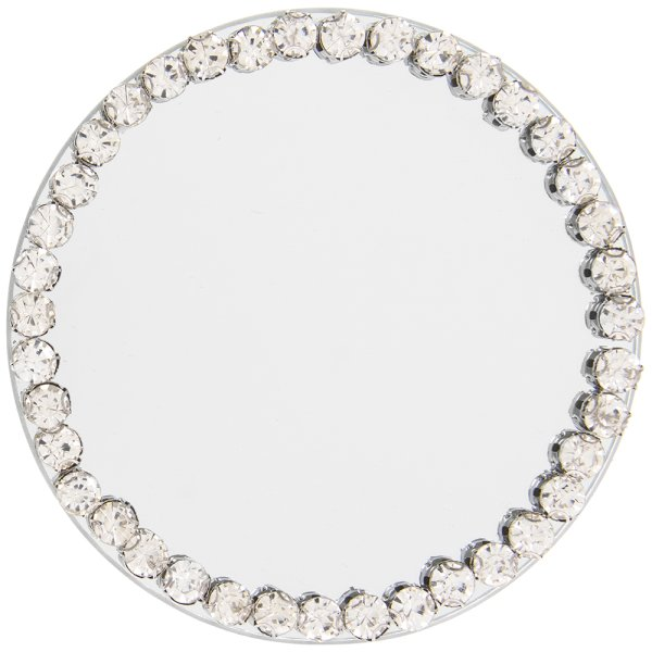 DIAMANTE MIRR CANDLE PLATE10CM