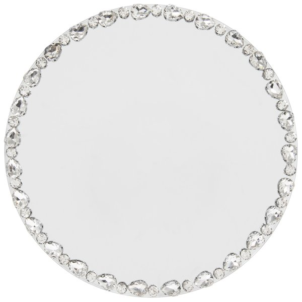 DIAMOND MIRROR CANDLE PLT 20CM