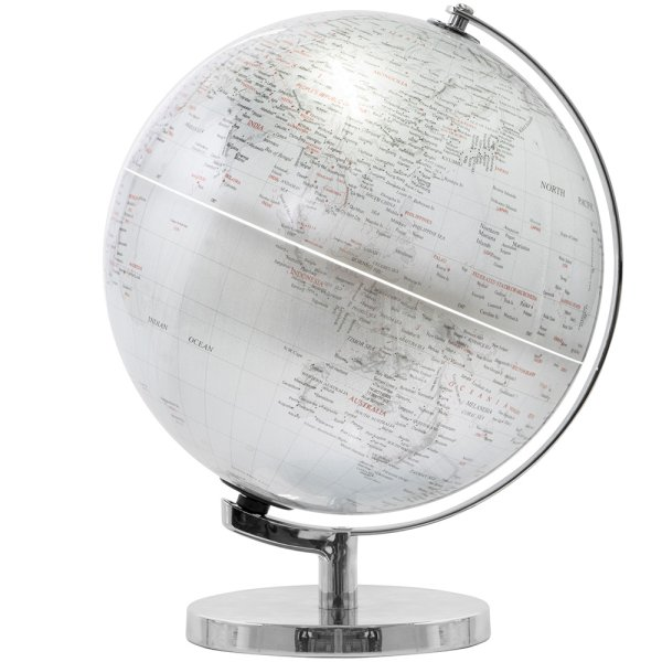GLOBE SILVER LIGHT UP ON BASE