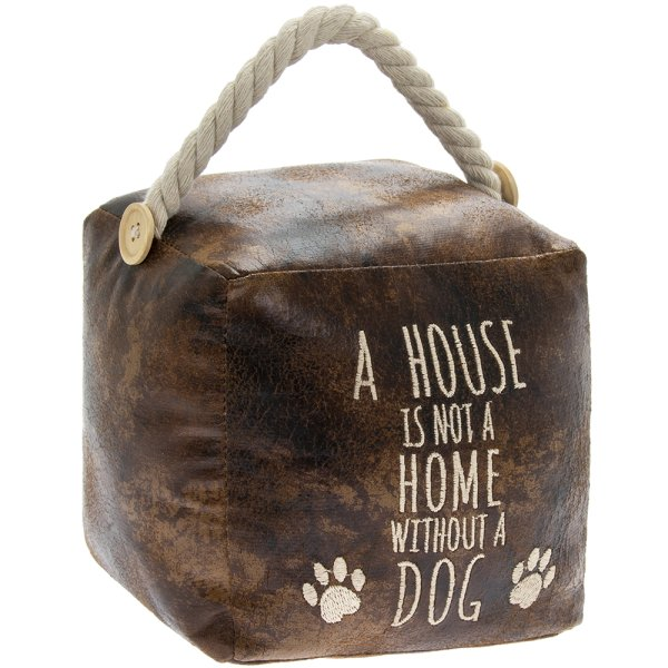 FAUX LEATHERDOG DOORSTOP