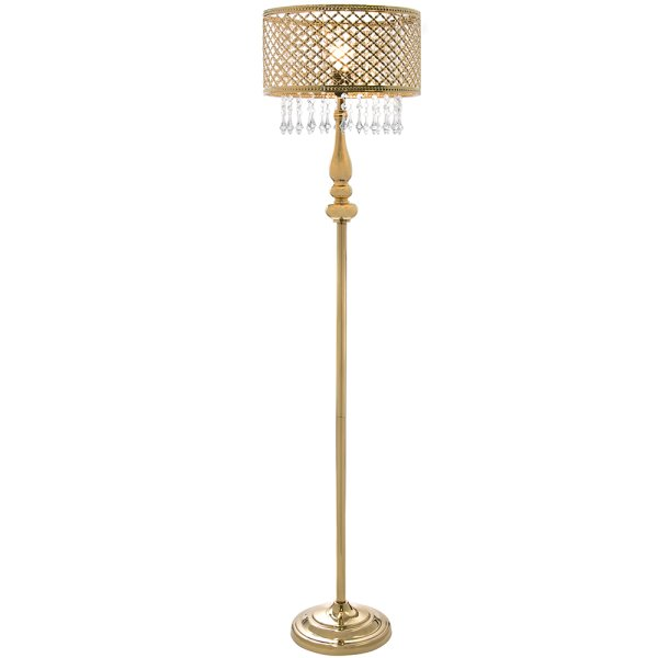GOLD CHANDELIER FLOOR LAMP
