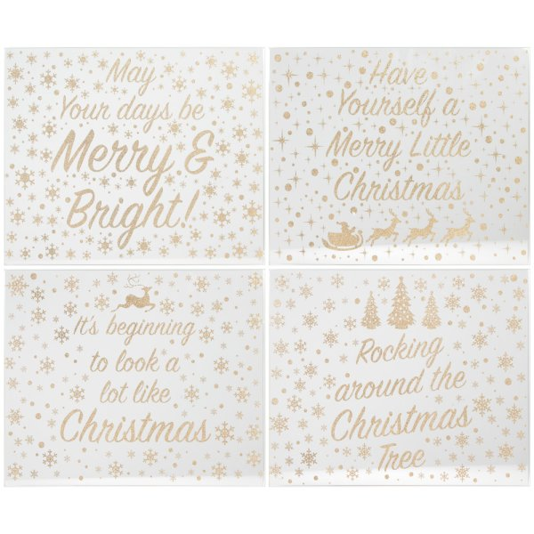 GOLD GLITTER MIRROR PLACEMATS