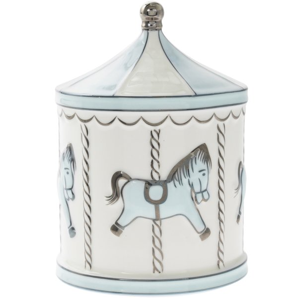 BABY BLUE CAROUSEL MONEY BOX