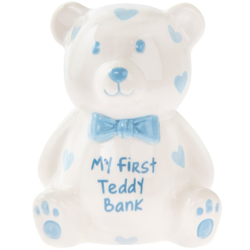 MY FIRST TEDDY BANK BLUE SMALL