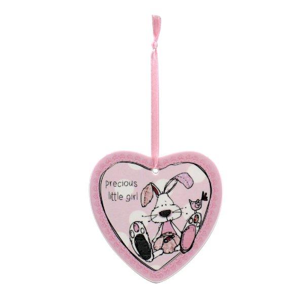 LITTLE MIRACLES PINK HEART PLQ