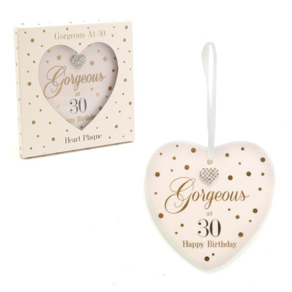 MAD DOTS 30TH HEART PLAQUE