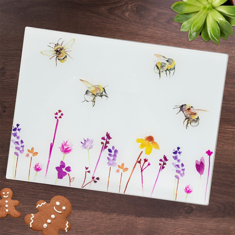 BUSY BEES GLASS CUTTING BOARD