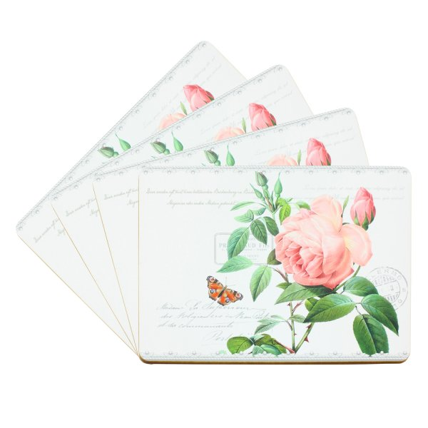 REDOUTE ROSE PLACEMATS SET 4