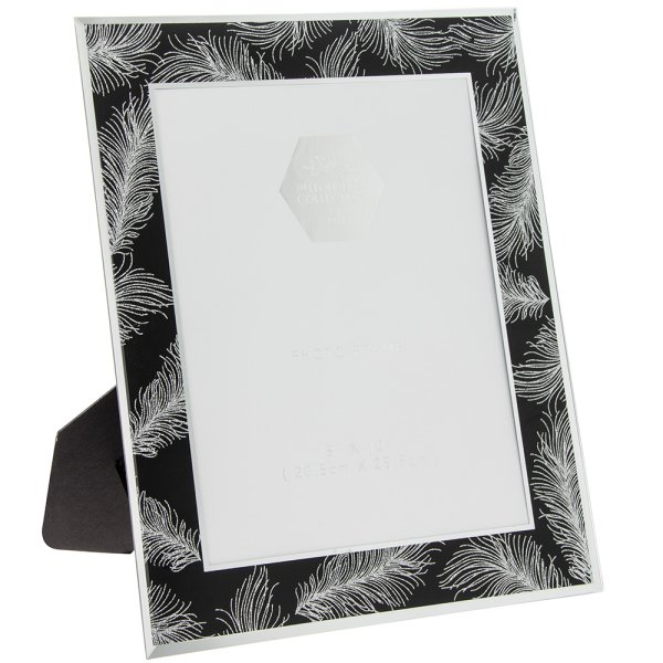 SIL FEATHER BLK MIRRFRAME 8X10