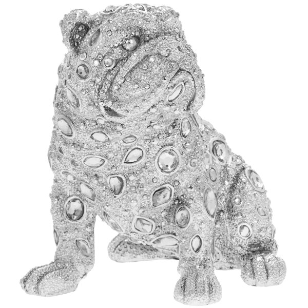 SILVER ART DIAMANTE BULLDOG