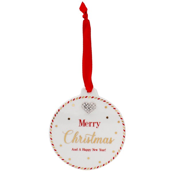 MAD DOTS XMAS BAUBLE PLAQUE